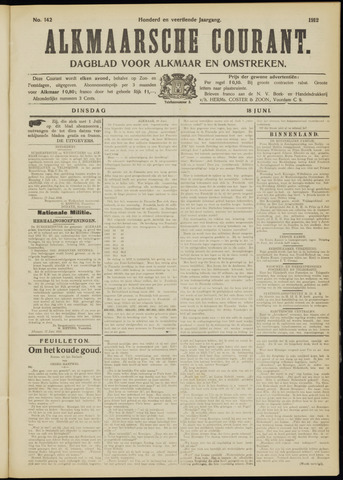 Alkmaarsche Courant 1912-06-18