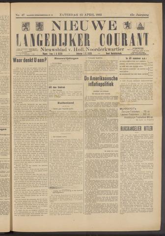 Nieuwe Langedijker Courant 1933-04-22
