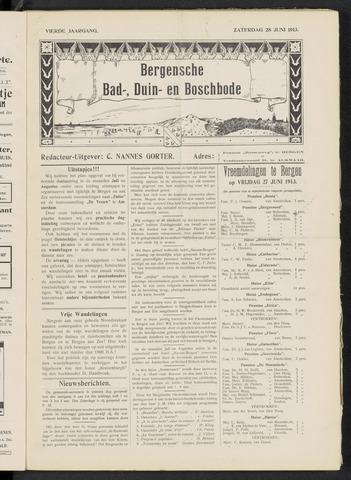 Bergensche bad-, duin- en boschbode 1913-06-28