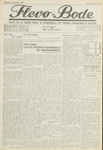 Flevo-bode: nieuwsblad voor Wieringen-Wieringermeer 1949-09-17