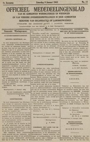 Mededeelingenblad Wieringermeer en Wieringen 1943-01-09