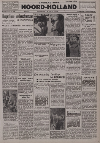 Dagblad Noord-Holland, Schager editie 1942-09-16