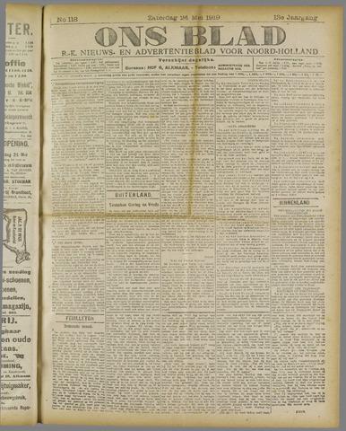 Ons Blad : katholiek nieuwsblad voor N-H 1919-05-24