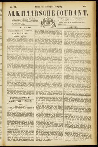 Alkmaarsche Courant 1885-08-02