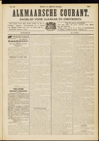 Alkmaarsche Courant 1913-06-17