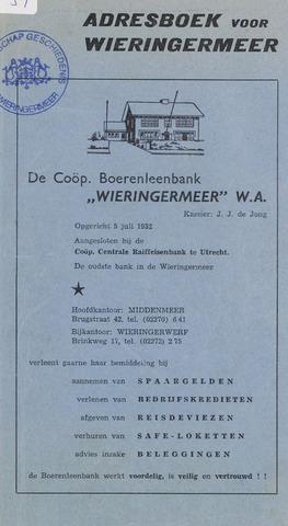 Adresboek van Wieringermeer 1960-01-01