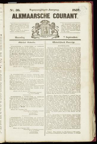 Alkmaarsche Courant 1857-09-07