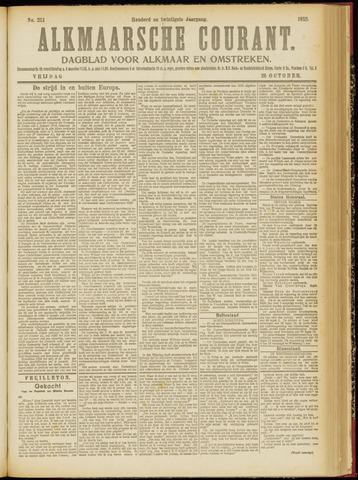 Alkmaarsche Courant 1918-10-25