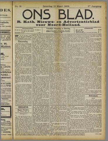 Ons Blad : katholiek nieuwsblad voor N-H 1909-03-13