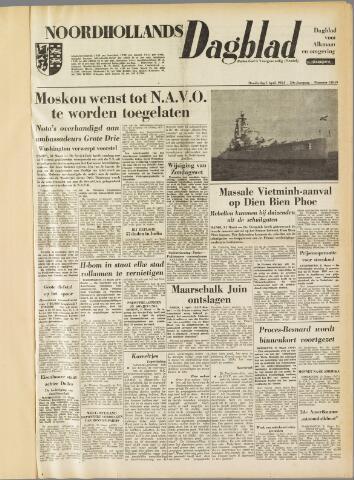 Noordhollands Dagblad : dagblad voor Alkmaar en omgeving 1954-04-01
