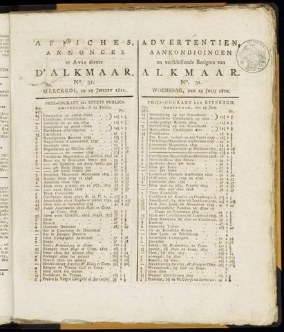 Alkmaarsche Courant 1812-07-29