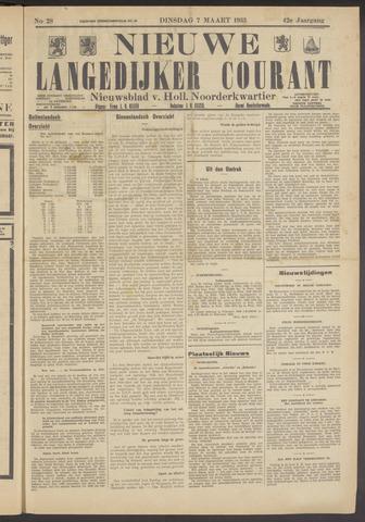 Nieuwe Langedijker Courant 1933-03-07