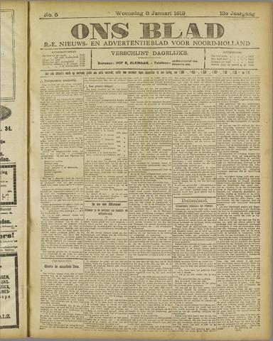 Ons Blad : katholiek nieuwsblad voor N-H 1919-01-08