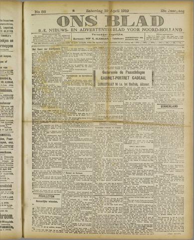 Ons Blad : katholiek nieuwsblad voor N-H 1919-04-19