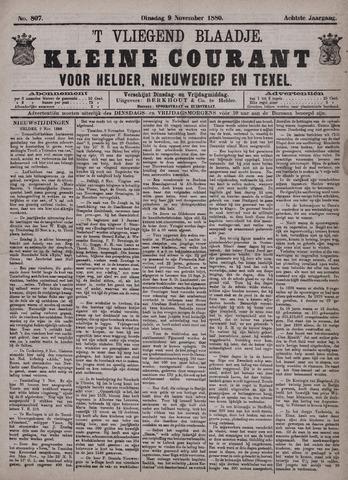 Vliegend blaadje : nieuws- en advertentiebode voor Den Helder 1880-11-09