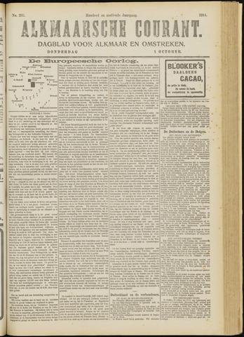 Alkmaarsche Courant 1914-10-01