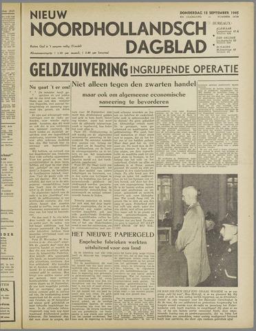 Nieuw Noordhollandsch Dagblad : voor Alkmaar en omgeving 1945-09-13