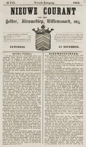 Nieuwe Courant van Den Helder 1862-11-15