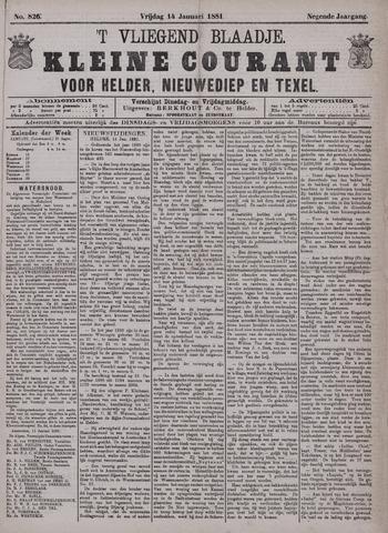 Vliegend blaadje : nieuws- en advertentiebode voor Den Helder 1881-01-14