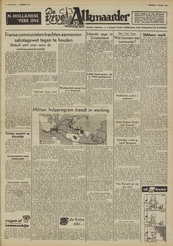 De Vrije Alkmaarder 1950-03-07