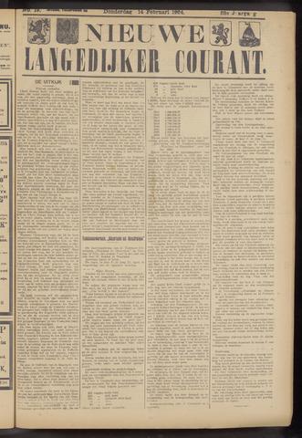 Nieuwe Langedijker Courant 1924-02-14