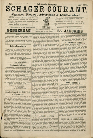 Schager Courant 1874-01-15