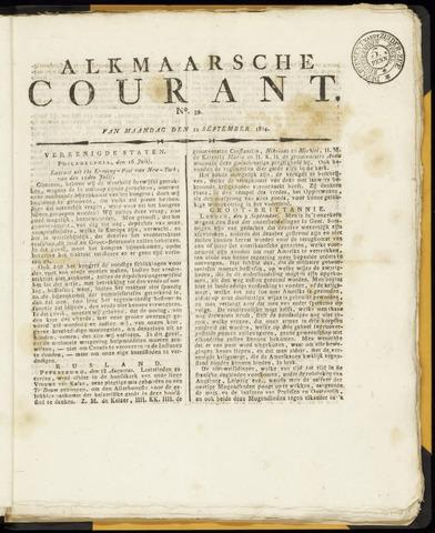 Alkmaarsche Courant 1814-09-12