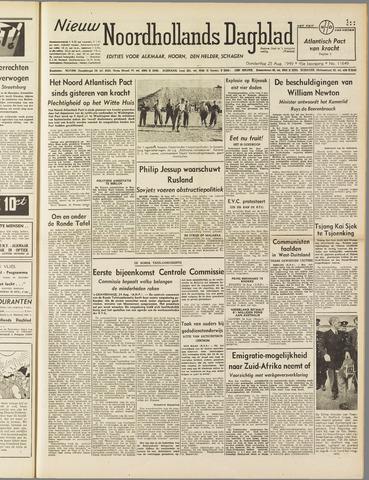 Nieuw Noordhollandsch Dagblad : voor Alkmaar en omgeving 1949-08-25