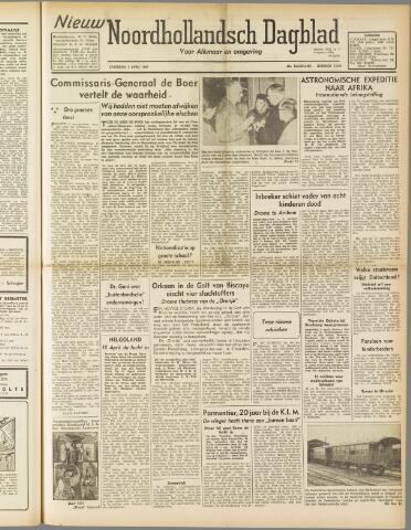 Nieuw Noordhollandsch Dagblad : voor Alkmaar en omgeving 1947-04-05