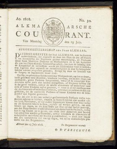 Alkmaarsche Courant 1808-07-25