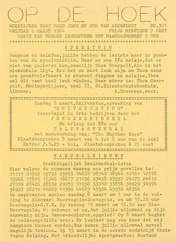 Op De Hoek, weekblad voor Akersloot 1964-03-06