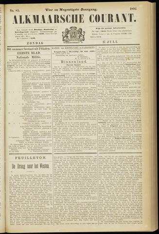 Alkmaarsche Courant 1892-07-17