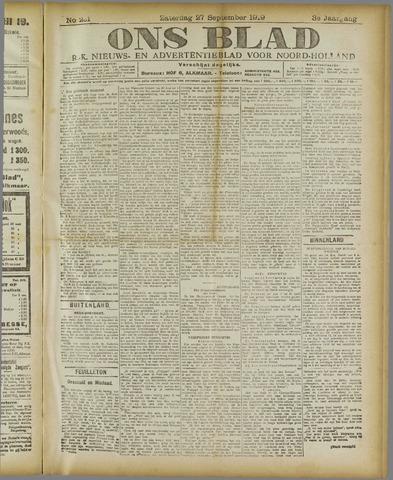 Ons Blad : katholiek nieuwsblad voor N-H 1919-09-27
