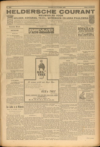 Heldersche Courant 1926-10-25