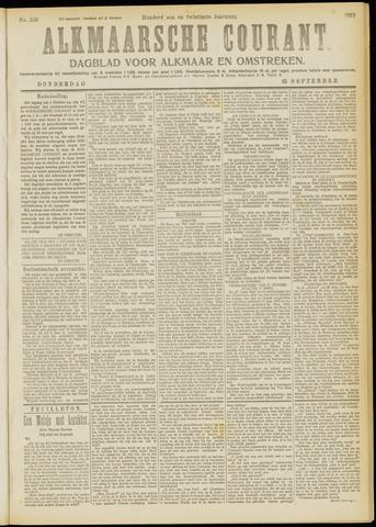 Alkmaarsche Courant 1919-09-25