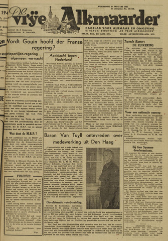 De Vrije Alkmaarder 1946-01-23