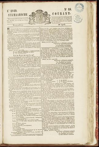 Alkmaarsche Courant 1849-04-30