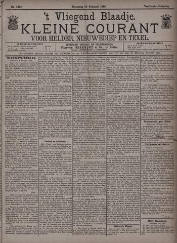 Vliegend blaadje : nieuws- en advertentiebode voor Den Helder 1886-02-10