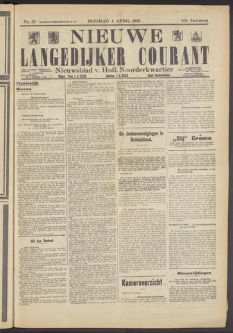 Nieuwe Langedijker Courant 1933-04-04