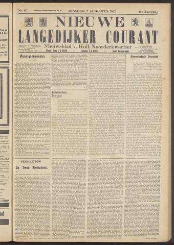 Nieuwe Langedijker Courant 1932-08-02