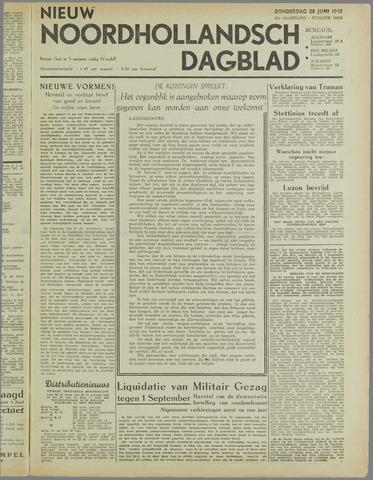 Nieuw Noordhollandsch Dagblad : voor Alkmaar en omgeving 1945-06-28
