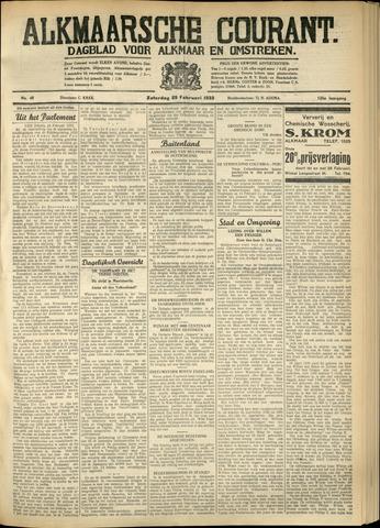 Alkmaarsche Courant 1933-02-25