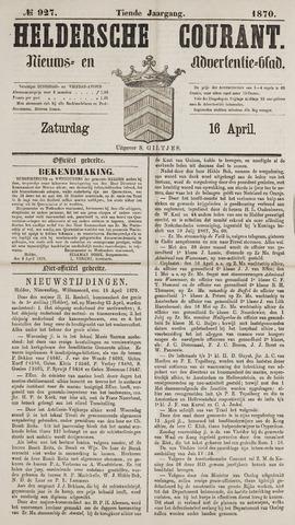 Heldersche Courant 1870-04-16