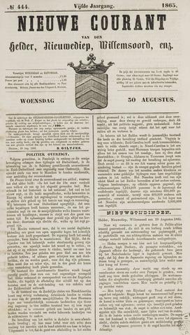 Nieuwe Courant van Den Helder 1865-08-30