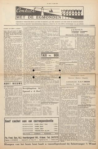 Contact met de Egmonden 1965-04-08