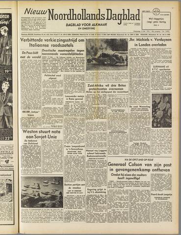 Nieuw Noordhollandsch Dagblad : voor Alkmaar en omgeving 1952-05-14