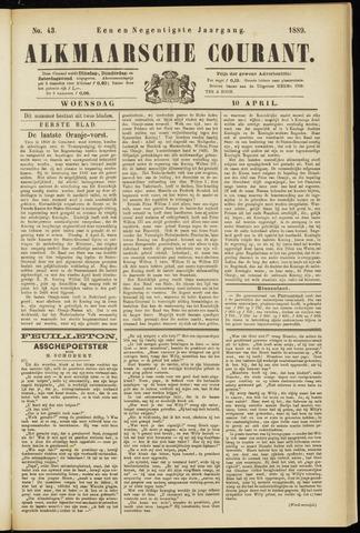 Alkmaarsche Courant 1889-04-10