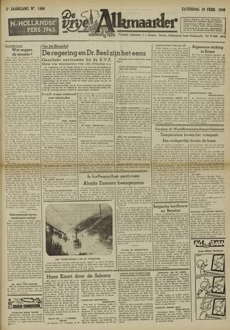 De Vrije Alkmaarder 1949-02-19