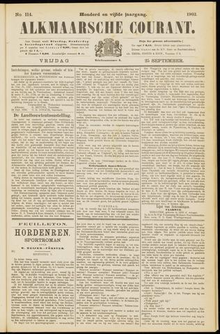 Alkmaarsche Courant 1903-09-25