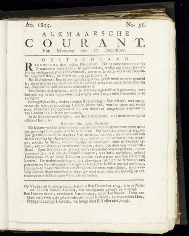 Alkmaarsche Courant 1805-12-23